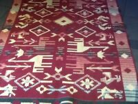 Large rug.
