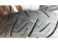 "Part worn motorcycle tyre size 120/90 x 18"" 120 90 18"
