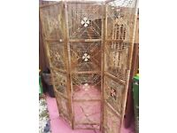 BAMBOO SCREEN ROOM DIVIDER GRT COND