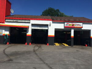 Garage space for rent, 2 bays, hoist, air compressor, alignment
