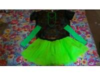 80 green tutu with accessories size large