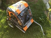 Halfords double bicycle trailer