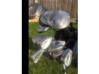 RH Wilson golf set,bag 2,5,6,7,8,9,PW,SW, King Cobra driver, Tour Golf 3, Wilson 5 and 4 hybrid