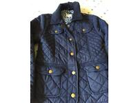 Girls a Junior J quilted jacket size 8-9