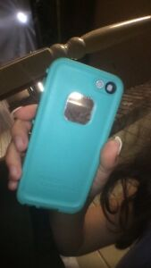 Life proof blue iPhone 5s phone case