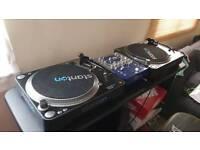 Stanon T92 turntables + NUMARK DXM06 mixer