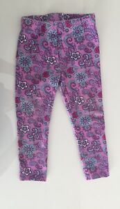 Girl's Sz. 3 (Small Fitting 3) Purple Print Leggings. $3.00