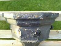 """Vintage cast iron rain hopper 13"""""""
