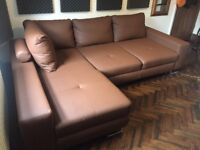 Corner Sofa Bed, 5 MONTHS OLD IMMACULATE CONDITION!!! £400 was £800