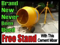 Cement Mixer Belle With Free Stand Never Used