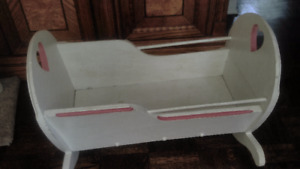 Vintage white wooden crib to paint