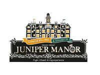 4x Juniper Manor tickets - Friday 18th August - 7pm entry - Face Value!