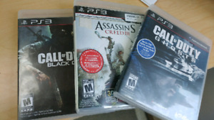 Jeux ps3 call of duty et assassin creed 3