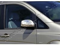 MERCEDES VITO W639 CHROME MIRROR COVERS + INDICATOR VERSION - ABS OMTEC £30