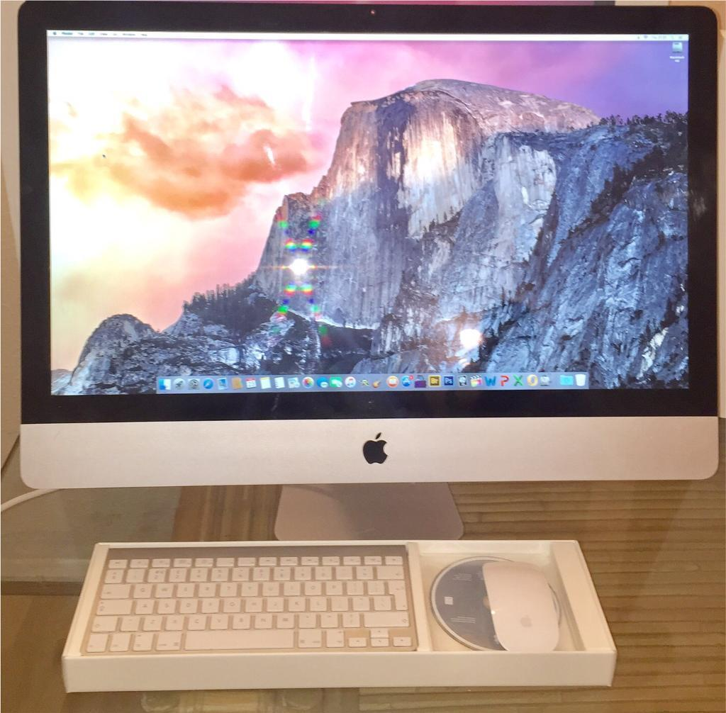 """Apple iMac 27"""" i7, 1GB Graphics, 16GB RAM, 1000GB HDProgramsin Wood Green, LondonGumtree - Selling this lovely, stunning and super fast iMac i7. Fully working and in brilliant condition Specs Quad Core i7 @2.93Ghz 16GB RAM 1GB Graphics 1TB HD Includes Keyboard Mouse Power cableSoftware/Programs· Photoshop CS6· Logic Pro X· Final Cut·..."""