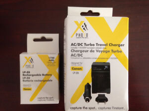 LP-E8 Li-Ion Battery + Car/Home Charger For Canon T2i,T3i, T5i.