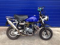 2002 JINCHENG MONKEYBIKE 110cc TUNED , REGISTERED AS A 50cc VERY QUICK