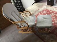 Hauck nursing/ rocking chair with matching rocking footstool