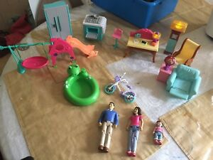 Loving family doll house with accessories