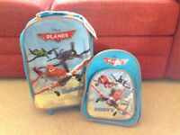 Disney planes suitcase and backpack