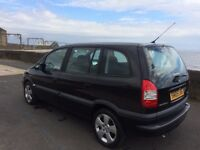 05 vauxhall zafira design 16v.-1598 cc.5door mpv.low mileage 61000 miles/7 seater.