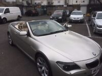BMW 645 CONVERTIBLE 4.4 V8 SERIES 6 HIGH PERFORMANCE YEAR 2005 IN 54 PLATE LONG MOT DRIVES PERFECT