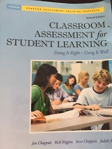 Classroom Assessment for Student Learning - Second Edition
