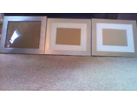 6 new silver coloured metal edged picture/photo frames ALL for