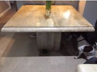 Solid Travertine Marble Stone dining table