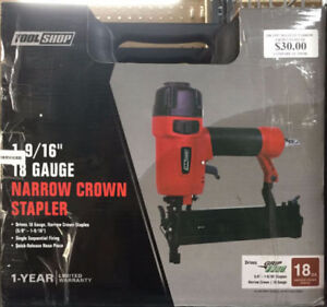 18-Gauge Pneumatic Narrow Crown Stapler (Used Tools Store)