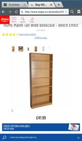 Maine tall wide beech effect book shelves