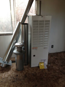 Forced Air Gas Furnace - Furnace, pipes, chimney & instructions