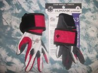BRAND NEW WOMENS X3 COMPETITION FULL FINGER WRISTSTRAP GLOVES - WEIGHT LIFTING, CLIMBING, CAGE WORK