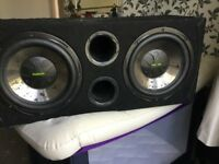 Fusion double sub woofer