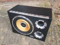 Subwoofer with build in amp Vibe Evolution v2 CBR Evo with cables - BMW Honda Audi VW