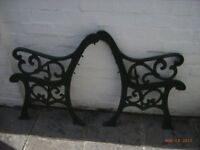 Garden heavy metal decorative seat ends