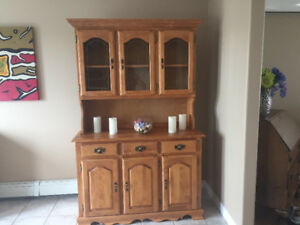 Price reduced. Beautiful solid kitchen hutch