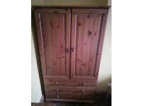 Solid Wood Wardrobe, Dresser and Nightstand