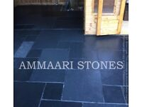 Kotah Black Indian Limestone Paving Slabs Patio Pack 16.06 Sqm Natural Stone **FREE DELIVERY**