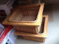 Kitchen wicker baskets