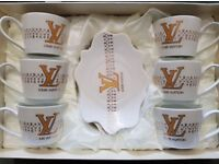 NEW IN BOX 12PC DESIGNER TEA /COFFEE SET