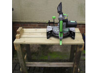 Mitre Cutter (EVOLUTION FURY). Multi-purpose Diamond Blade, with home-made bench.