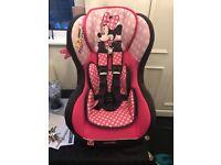 pink mini mouse car seat