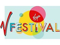 V FEST YELLOW CAMPING HYLANDS PARK BARGAIN PRICE £100