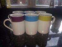 6 Brand New Matching Mugs
