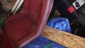 1974 Red Swivel Bucket Seats For Monte Carlo