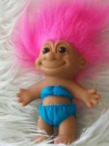 Collectible 1990s Lucky RUSS Trolls with Original Russ Label