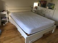 John Lewis White King Size Bed with Mattress - Perfect Condition
