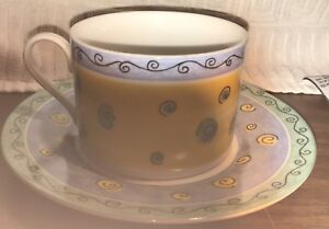 12 cups and saucers.  Unused