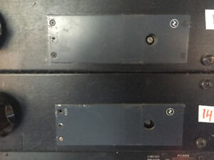 2 x vintage NEVE 1272 mic amps in racks.